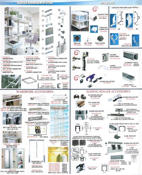 Cabinet Roller by Aluflex Aluminum System Roller Set Wardrobe Accessories