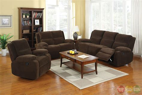 Haven Traditional Dark Brown Living Room Set With Plush Cushions Cm6554