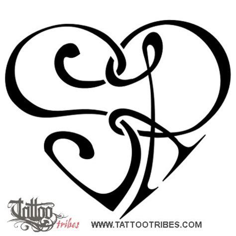 tatuaggi lettere s of s r heartigram union custom
