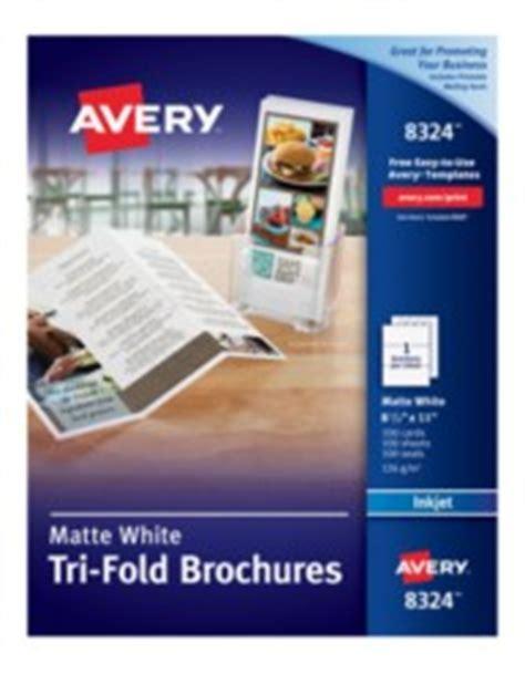 avery printable white tri fold brochures