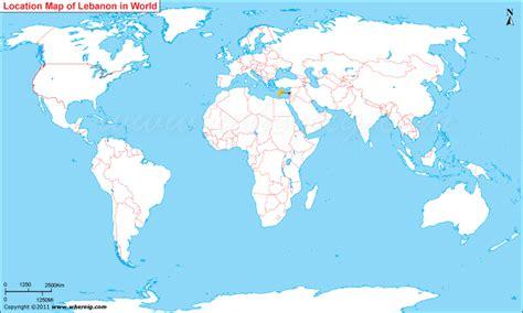 lebanon located lebanon location  world map