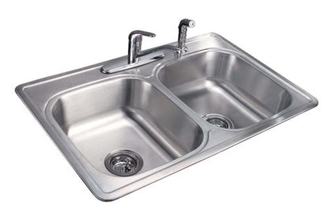 menards stainless steel sink tuscany 7 quot double bowl stainless steel kitchen sink kit at