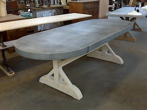 Zinc Top Table And Sideboards