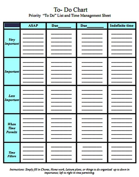 time chart template printable time management charts search results