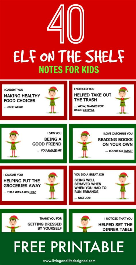 on the shelf free 40 printable on the shelf notes for