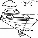 Boat Coloring Pages Drawing Guard Coast Ship Printable Police Easy Fishing Line Motor Navy Clipart Sketch Getdrawings Clip Library Getcolorings sketch template