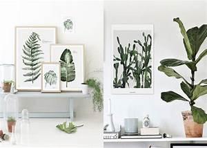 focus sur la decoration murale d39inspiration vegetale With affiche chambre bébé avec fleur plante