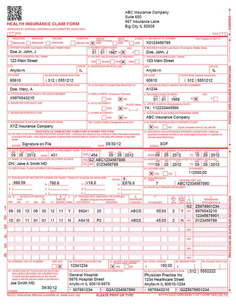 cms 1500 paper claim forms fiachra forms charting solutions