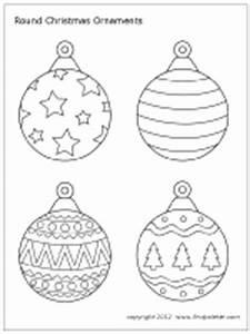Christmas Tree Ornaments | Printable Templates & Coloring ...