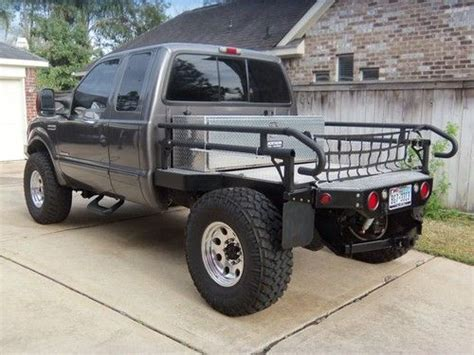hunting truck for sale f250 superduty 4x4 custom air suspension lifted flat bed