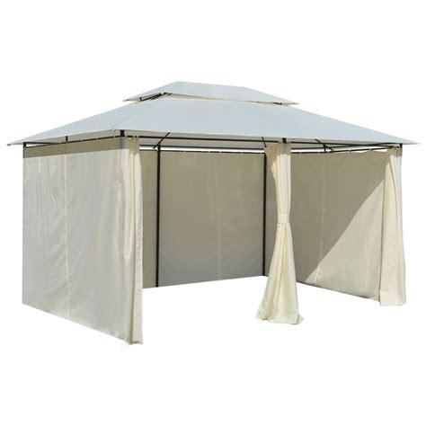 gazebo con tende articoli per vidaxl gazebo da giardino con tende 4x3 m