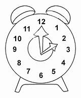Clock Coloring Pages Outline Printable Bus sketch template