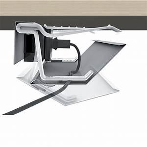 Rangement Cable Bureau : kit goulotte m tallique kit goulotte de bureau goulotte ~ Premium-room.com Idées de Décoration