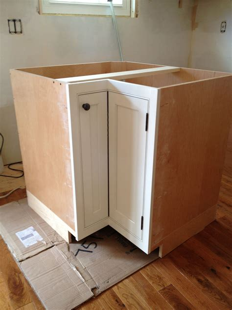 How To Build A Corner Cabinet With Doors - corner cabinet with inset door and piano hinge new