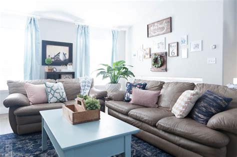 Pink, Navy Blue, And Jade Family Room Decor Reveal Jo's House