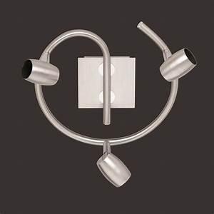 Deckenstrahler 3 Flammig : deckenstrahler rund in nickel matt 3 flammig wohnlicht ~ Orissabook.com Haus und Dekorationen