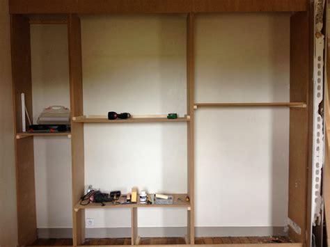 construire un bureau en bois cuisine diy un mur de placards la clamartoise fabriquer