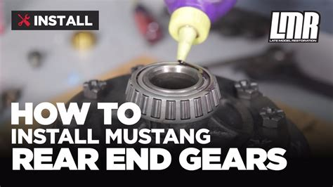 Ford 8 8 Gears by Mustang Rear End Gear Installation Ford Racing 8 8 Ring