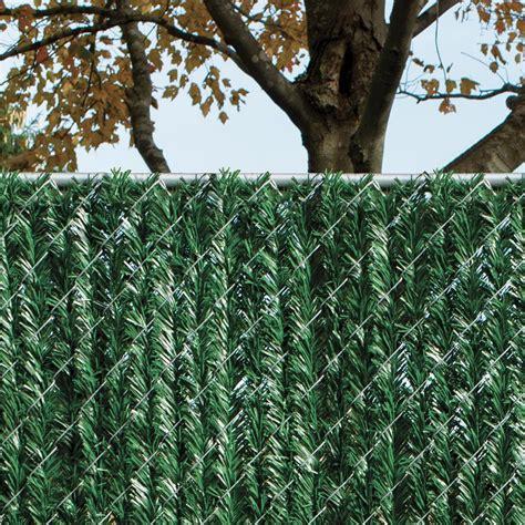 privacy hedge slats   high chain link fence