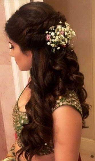 indian bridal wedding hairstyles  short  long