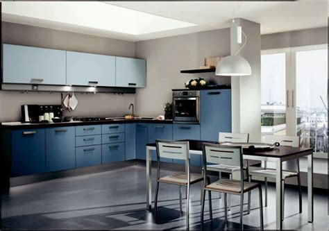 bleu orleans cuisine cuisine bleue décoration moderne avec des touches en bleu