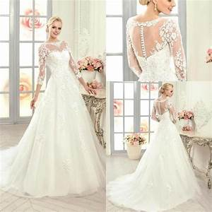 2016 new arrival long sleeves lace a line wedding dresses With a line lace wedding dress with sleeves