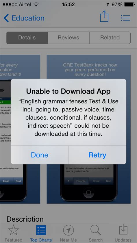 app not downloading iphone ios appstore quot unable to app quot on ios 7 1 1 ask