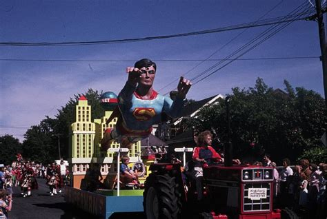 superman float  hays christmas parade heritage christchurch city libraries