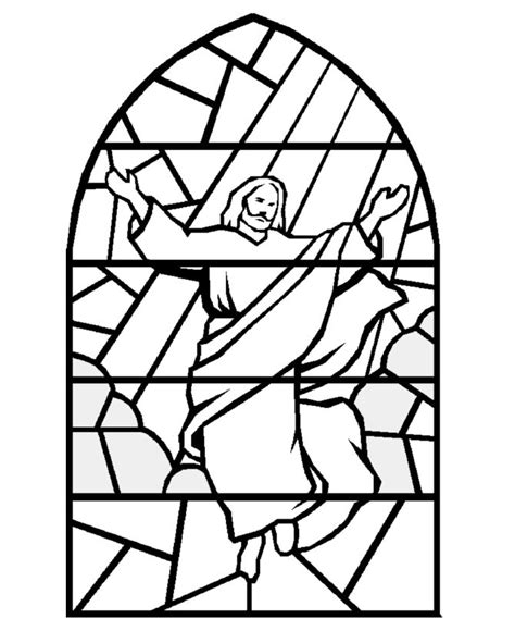 bible coloring pages stained glass jesus coloring pages
