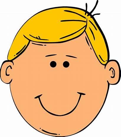 Hair Boy Blonde Clipart Cartoon Clip Face
