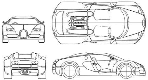 Bugatti Veyron Blueprint by Prevpemenpe 2005 Bugatti Veyron