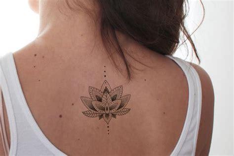 Lotus Tattoo / Mandala Fake Tattoo / Boho Vintage Flower...