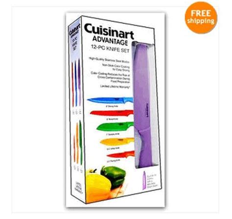 cuisinart colored knife set cuisinart advantage 12 knife set cookware colored