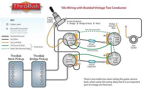 Throbak Style Les Paul Humbucker Guitar Pickup Wiring