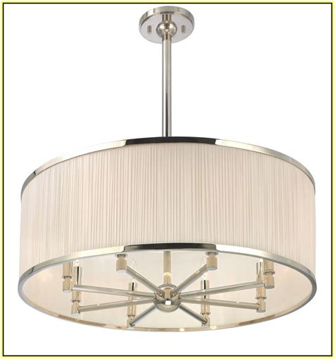 drum shade chandeliers home design ideas