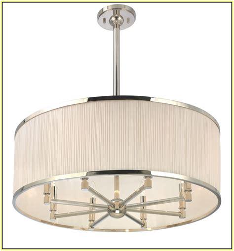 drum shade chandeliers home design ideas