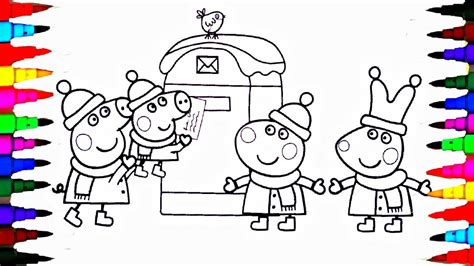 peppa pig coloring book pages kids fun art activities   children learning rainbow