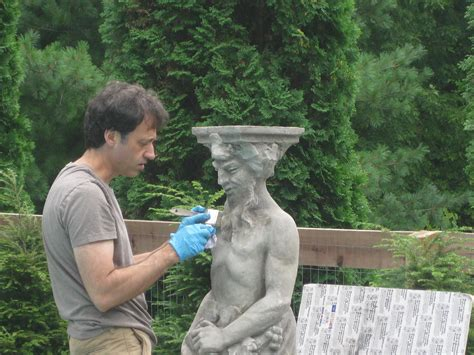 easy way to age new cement statues tutorial using