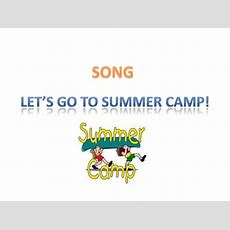 Summer Camp Song Vocabulary