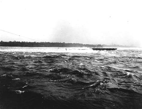 Scow In The Niagara River by Scow Rescue In Niagara River Gustav F Lofberg Being