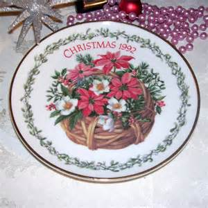 vintage trechslin decorative christmas plate by gypsummoonvintage
