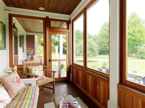 An Enclosed Porch.