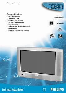 Philips Crt Television 32pw6615 User Guide