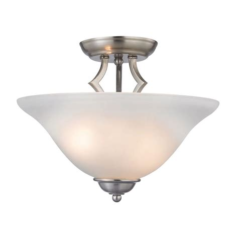 titan lighting kingston 2 light brushed nickel ceiling