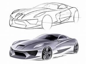 Under lit Car Rendering Technique Car Body Design