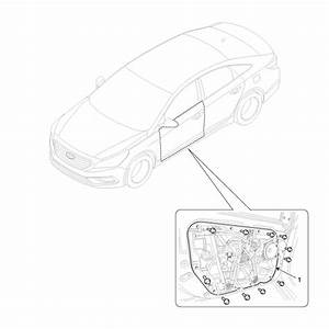 Hyundai Sonata  Front Door Module Components And