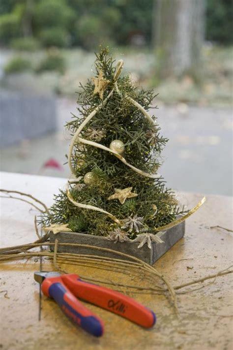 kreativ idee mini weihnachtsbaum als adventsdeko mein