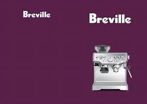 Download Breville Coffeemaker Bes870 Manual And User