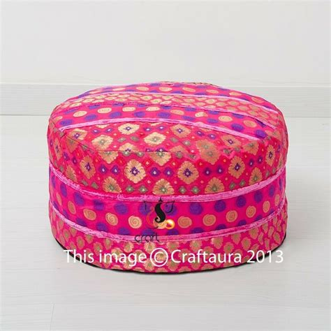 Pillow Ottomans by Pouf Ottoman Indian Saree Pouffe Foot Stool Poof