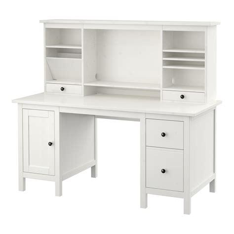 Hemnes Desk With Addon Unit White Stain 155 X 137 Cm Ikea